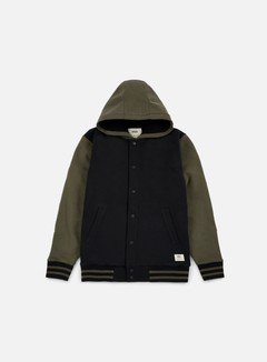 Vans - University II Sherpa Hoodie, Black/Grape Leaf 1