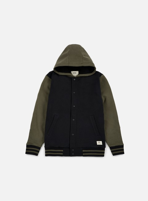 felpe vans university ii sherpa hoodie black grape leaf