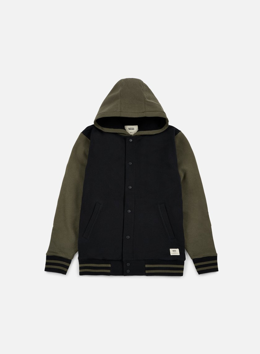 Vans - University II Sherpa Hoodie, Black/Grape Leaf