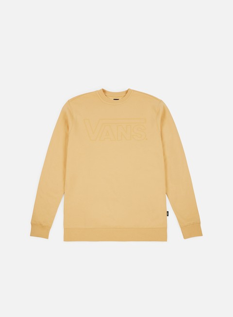 felpe vans vans classic crewneck new wheat