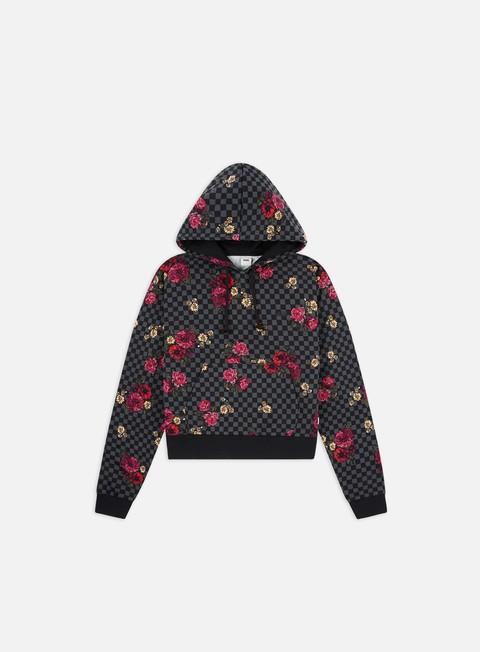 Sale Outlet Hooded Sweatshirts Vans WMNS Botanical Check Crop Hoodie