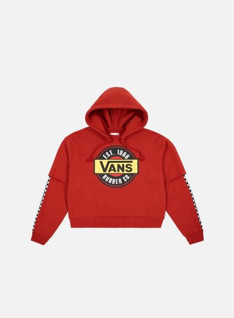 Hooded Sweatshirts Vans WMNS Chromo Twofer Hoodie