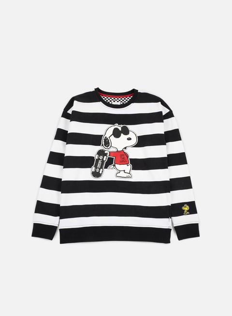 felpe vans wmns joe cool crewneck white black