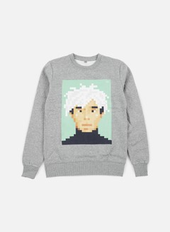 Very Important Pixels - Andy Crewneck, Sports Grey 1