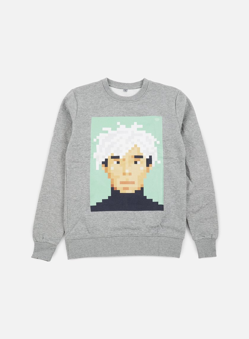 Very Important Pixels - Andy Crewneck, Sports Grey