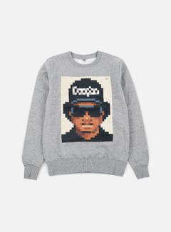 Very Important Pixels - Eazy Crewneck, Sports Grey 1