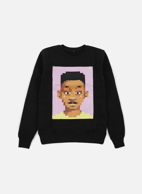 felpe very important pixels will crewneck black