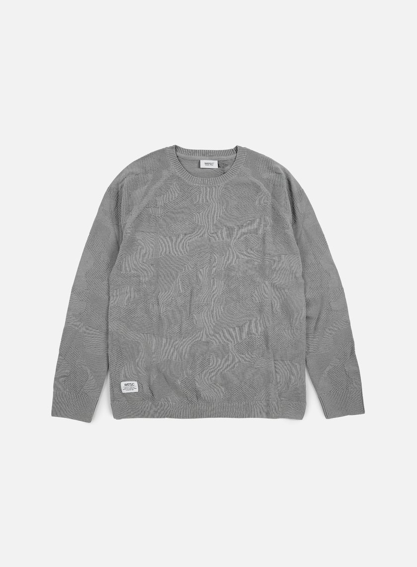 Wesc - Camo Knitter Sweater, Neutral Grey
