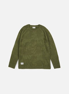 Wesc - Camo Knitter Sweater, Olive Branch