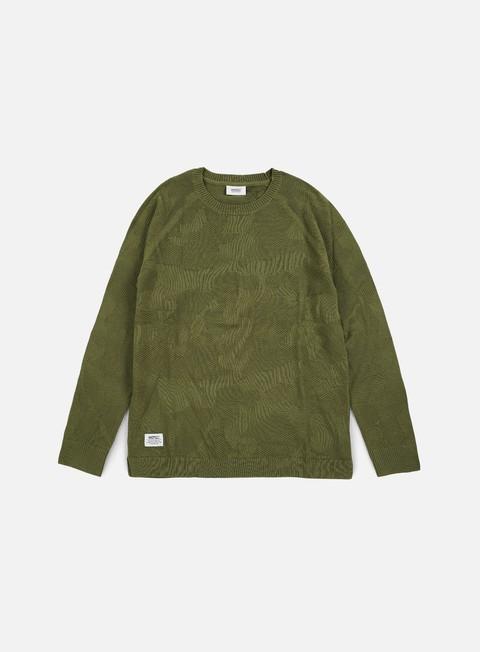 felpe wesc camo knitter sweater olive branch
