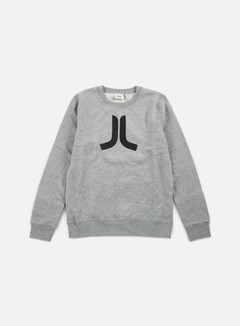 Wesc - Icon Crewneck, Grey Melange/Black