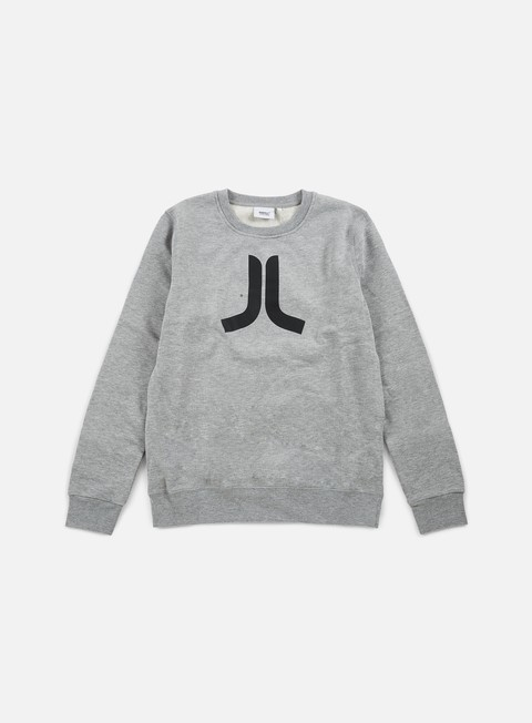 felpe wesc icon crewneck grey melange black