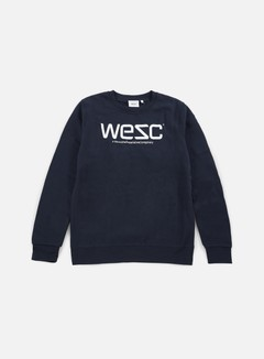 Wesc - Wesc Crewneck, Navy Blazer/White 1