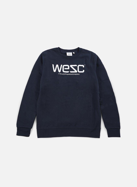 Wesc - Wesc Crewneck, Navy Blazer/White