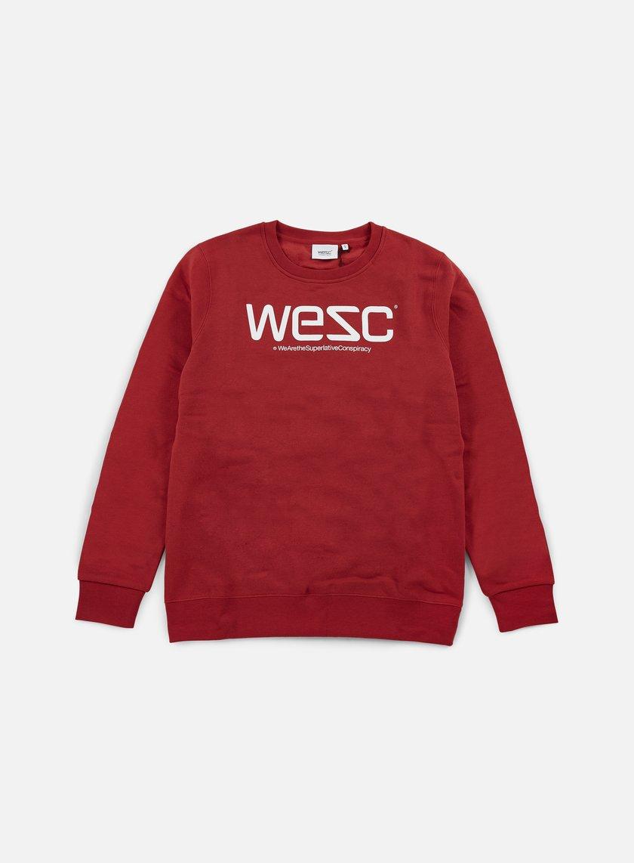Wesc - Wesc Crewneck, Pompejan Red/White