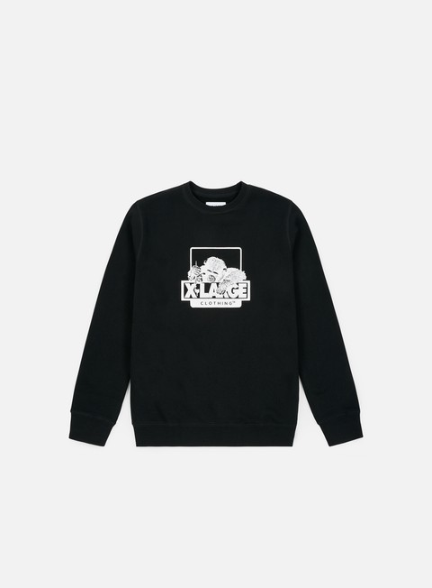 Outlet e Saldi Felpe Girocollo X-Large OG Doodle Chimp Fleece Crewneck