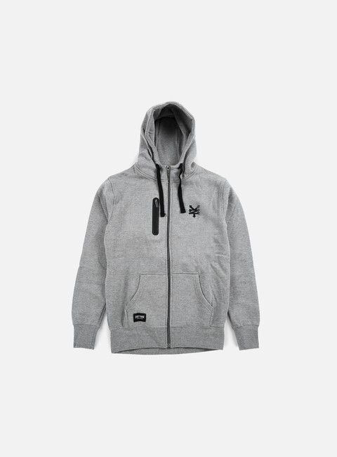 felpe zoo york chad full zip hoody dark grey