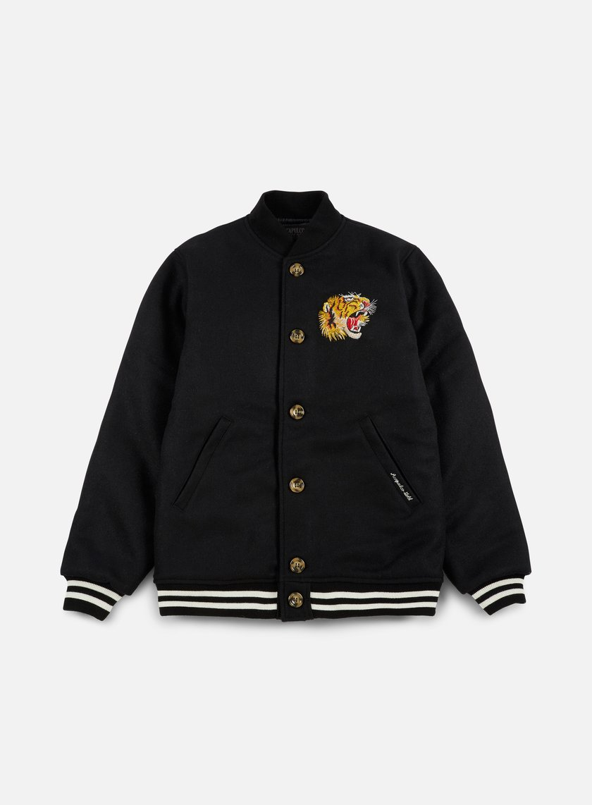 Acapulco Gold - Flying Tiger Baseball Jacket, Black