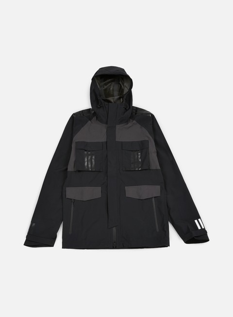 giacche adidas by white mountaineering wm shell jacket black