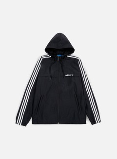 Adidas Originals - 3Striped Windbreaker, Black