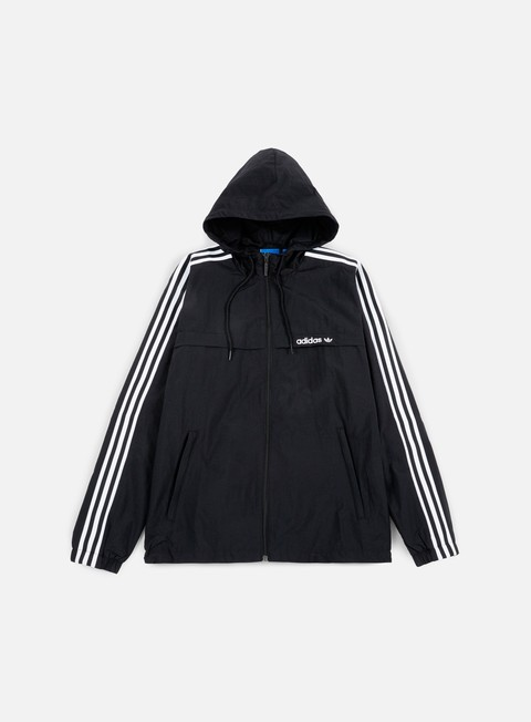 giacche adidas originals 3striped windbreaker black