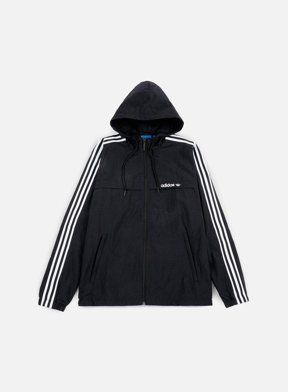 Adidas Originals - 3Striped Windbreaker, Black