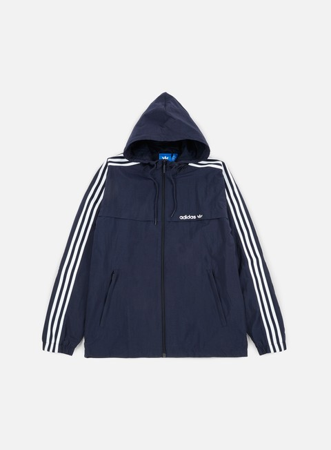 giacche adidas originals 3striped windbreaker legend ink