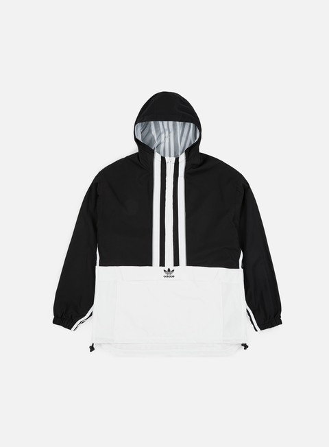 giacche adidas originals auth anorak black white