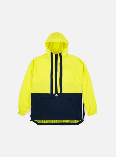 giacche adidas originals auth anorak shock yellow