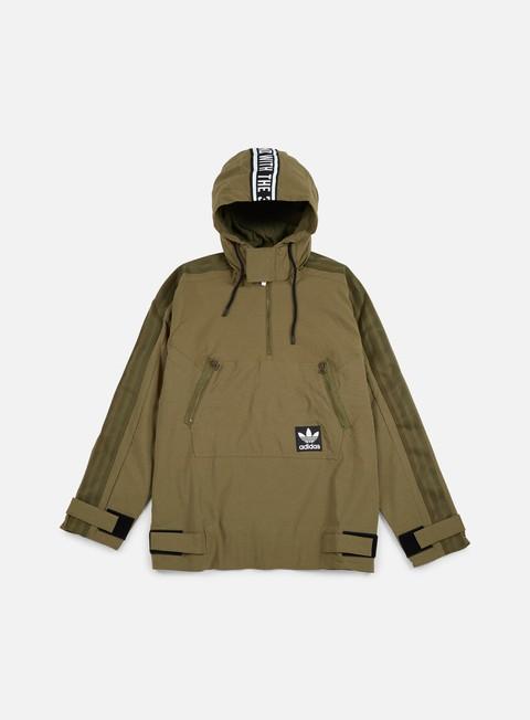 giacche adidas originals brand windbreaker olive cargo