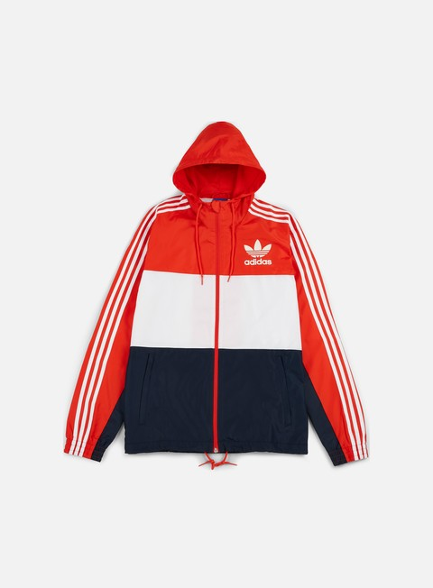 giacche adidas originals clfn windbreaker core red