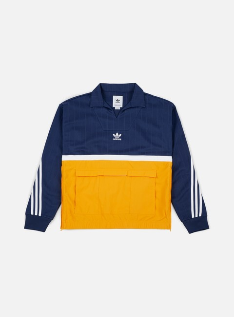 giacche adidas originals drill pullover jacket noble ink collegiate gold