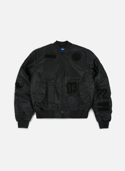 giacche adidas originals logo padded bomber jacket black