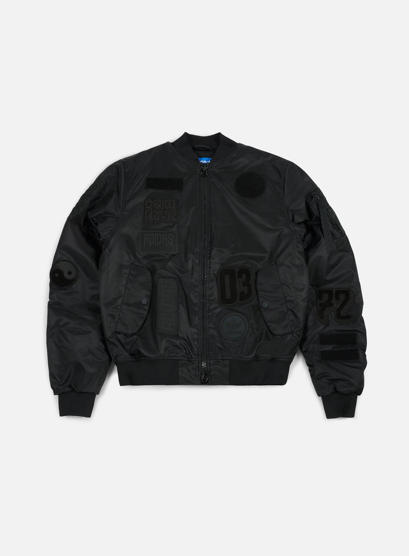 Adidas Originals - Logo Padded Bomber Jacket, Black