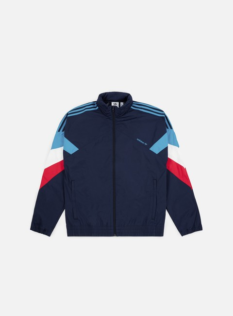 giacche adidas originals palmeston wb track jacket collegiate navy bold aqua