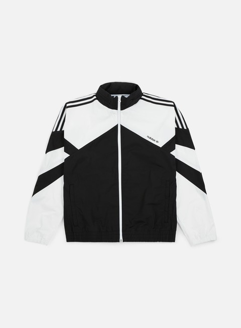 giacche adidas originals palmeston windbreaker black white