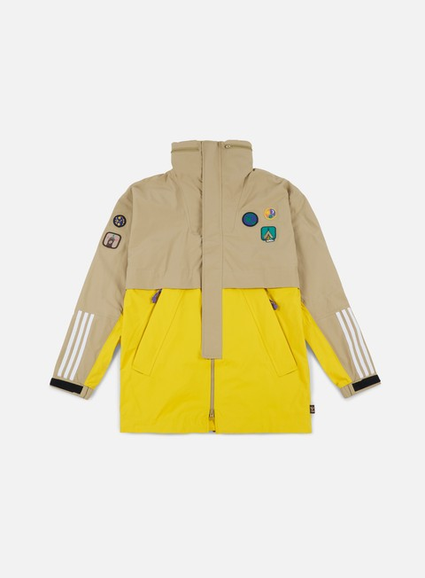 giacche adidas originals pharrell williams hu hiking 3l jacket hemp eqt yellow