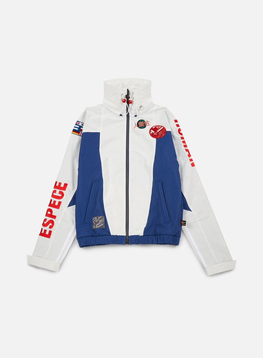 Adidas Originals - Pharrell Williams Hu Race FZ Jacket, White/Scarlet