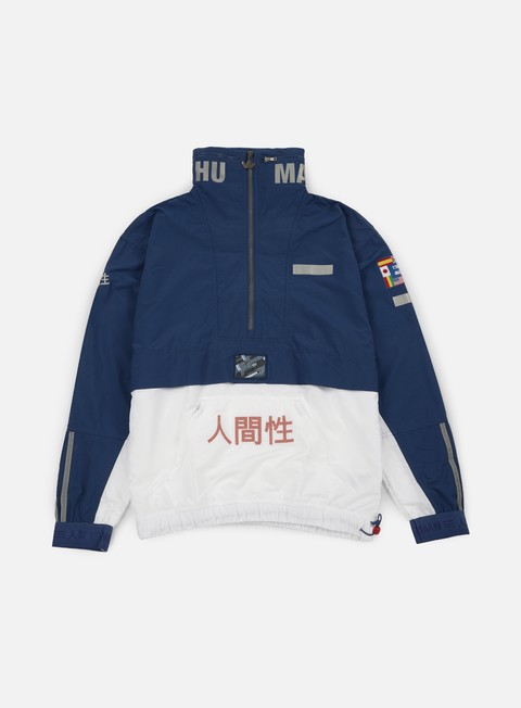 giacche adidas originals pharrell williams hu race hz windbreaker night marine white