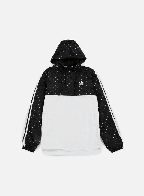 giacche adidas originals pharrell williams hu race woven windbreaker black white