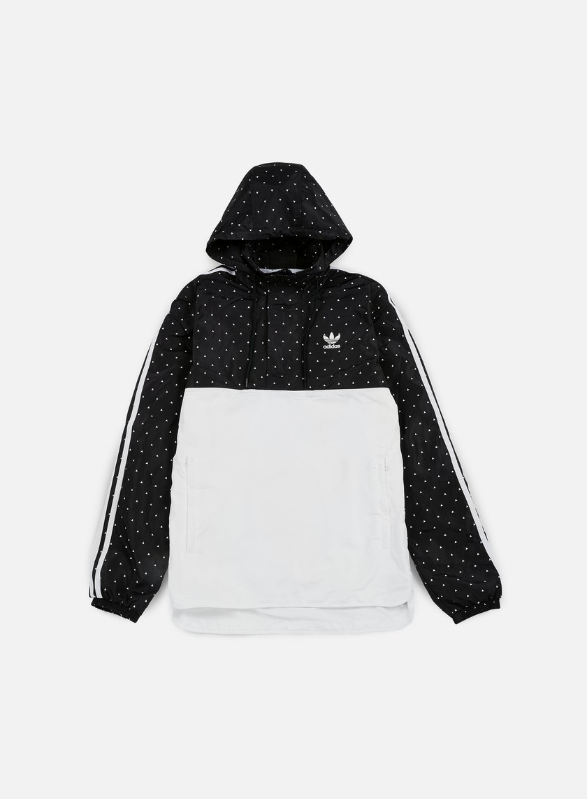 Adidas Originals - Pharrell Williams Hu Race Woven Windbreaker, Black/White