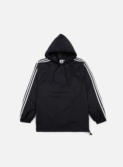 giacche adidas originals poncho windbreaker black white