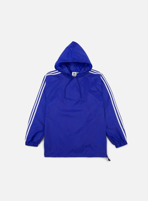 giacche adidas originals poncho windbreaker bobble blue white