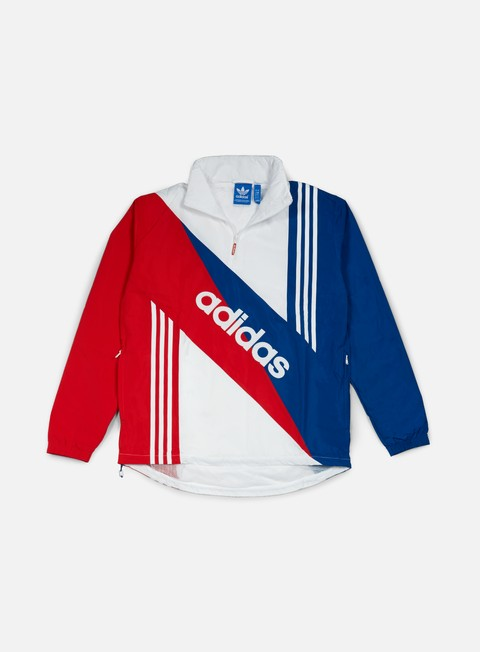 giacche adidas originals retro linear windbreaker eqt blue multi