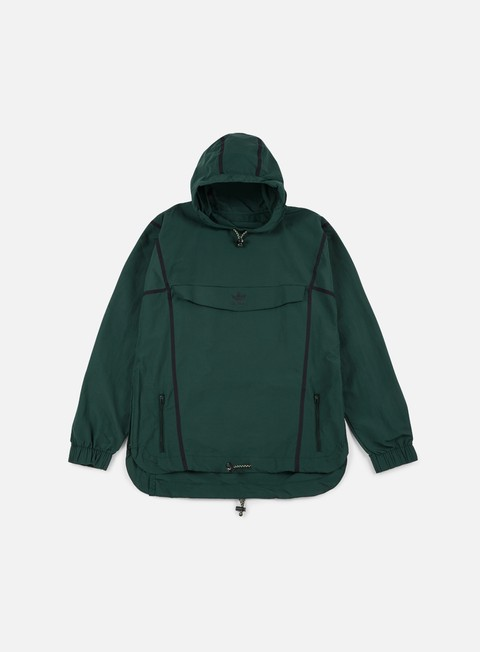 giacche adidas originals taped anorak jacket green night