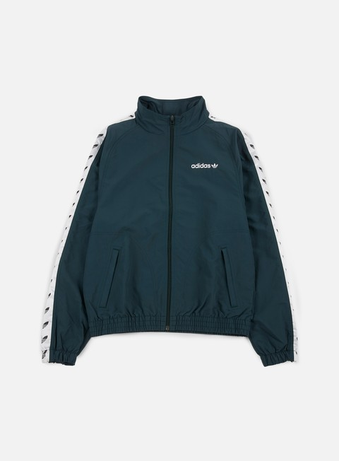 giacche adidas originals tnt trefoil windbreaker green night white