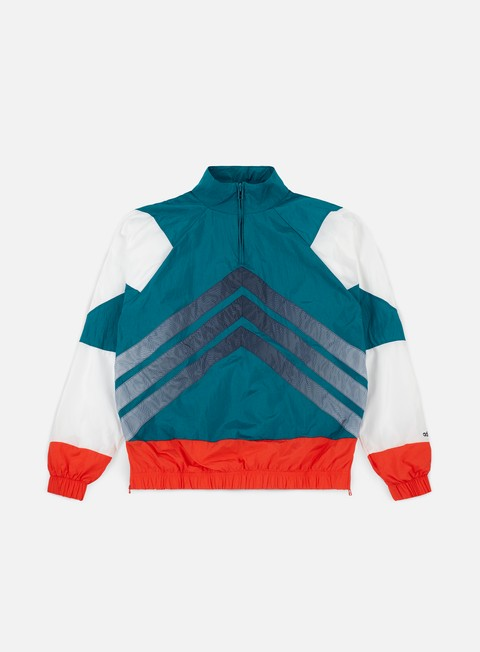 giacche adidas originals v stripes windbreaker blue high rise red