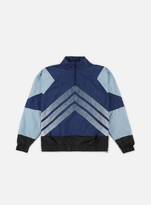 giacche adidas originals v stripes windbreaker carbon ash grey