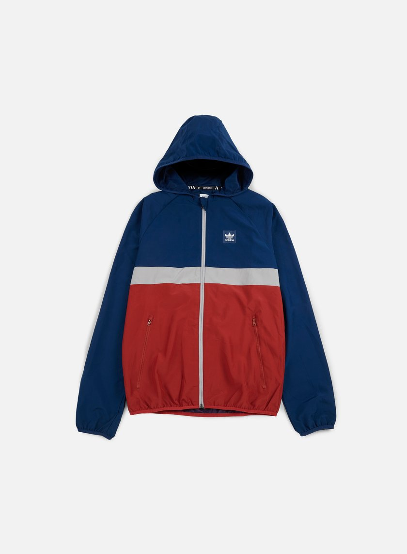 Adidas Skateboarding - Blackbird Wind Jacket, Mystery Blue/Mystery Red/Medium Grey