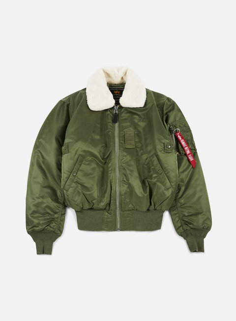 giacche alpha industries b 15 flight jacket sage green